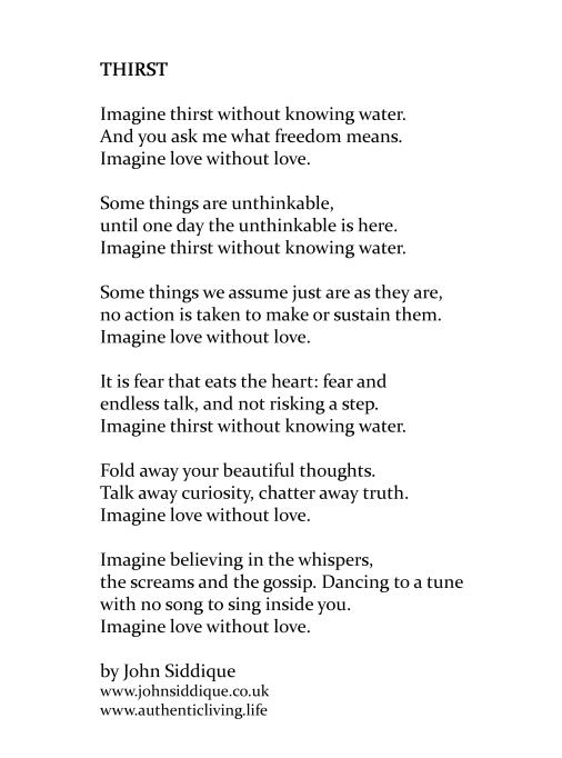 Thirst-Poem